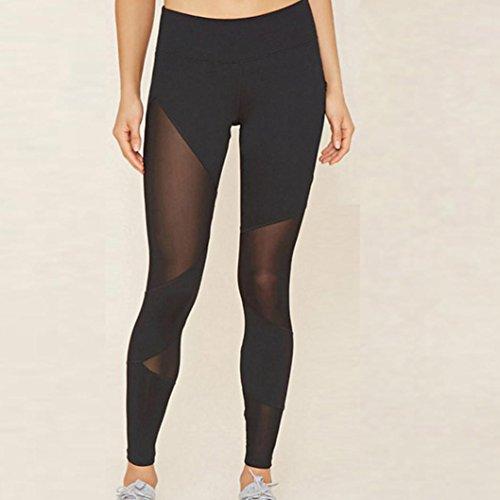 Pantalone da donna sportivo alto Vovotrade Ginnastica Yoga Running Fitness Leggings Pantaloni Atletico (L)