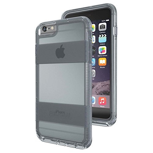 Clip Lg Belt Voyager - Pelican Voyager Rugged Cover Case with kickstand Belt Clip Holster for Apple iPhone 6 plus/6s plus Clear and Gray