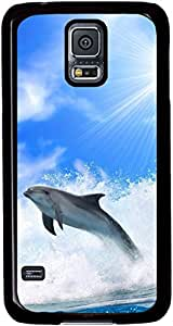 Chase-Dolphins-And-Sea-Waves for Samsung Galaxy S5 I9600 Case with Black Side
