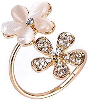 菊オープンリング 指輪 フリーサイズ 指輪 レディース ゴールド 結婚 リング アクセサリー 記念日誕生日 バレンタイン プレゼント
