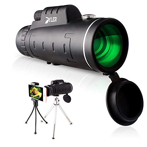 Monocular Telescope, 12X50 High Power – Zoom Lens Phone – Dual Focus Optics Scope – Waterproof Shockproof Scope with…