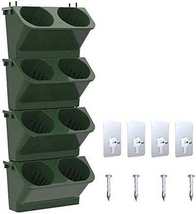 Destinely Vertical Garden Planter Wall Mounted Hanging Pot with Suction Cups and Nails Sun and Corrosion Resistance Planting Bags Wall Hanging Gardening Planterr Decoration Living Room Balcony