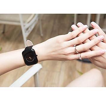 LKTGBRCVZJU Relojes Marea Tendencias Fashion Square Reloj de Moda cinturón de Reloj de Cuarzo Resistente al