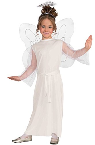 [Mememall Fashion White Heavenly Angel Child Costume (L)] (Deluxe Plush Cow Mascot Costumes)