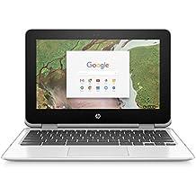 "HP 11-ae051wm 11.6"" X360 Touchscreen Chromebook - Intel Celeron N3350 1.1GHz 4GB RAM 64GB eMMC Snow White (Certified Refurbished)"