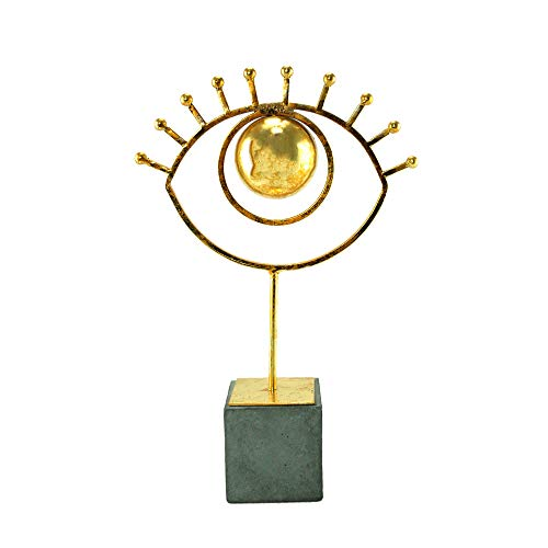 Sagebrook Home Eye On Base Figurine, 10.5