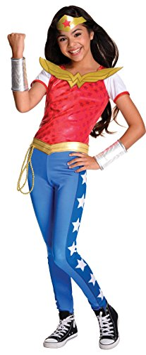 [Rubie's Costume Kids DC Superhero Girls Deluxe Wonder Woman Costume, Medium] (Girl Superheroes Kids Costumes)