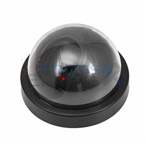 [Fashion 4 Black Dummy Fake Security CCTV Dome Surveillance Camera Flashing Red LED Light] (Dummy Costume Diy)