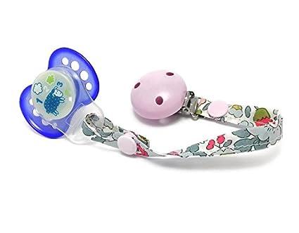 Cadena para chupete - bambino - Clip rosa - Liberty Betsy ...