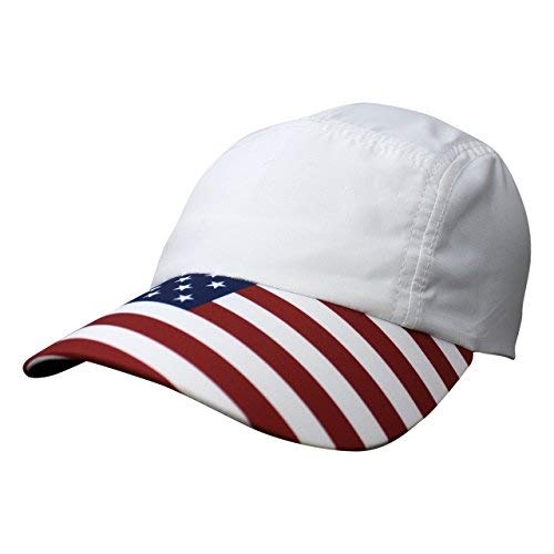 Headsweats Performance Race Hat, USA Flag, One Size