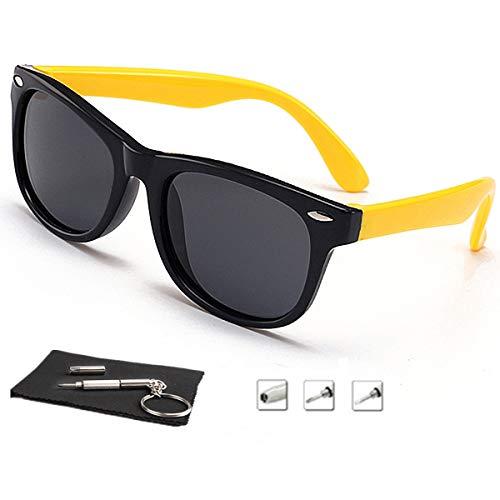 7c8d92856adb Galleon - Kids Sunglasses For Kids Polarized Sunglasses Girls Child Boys Age  3-10 (Rubberized Black  yellow