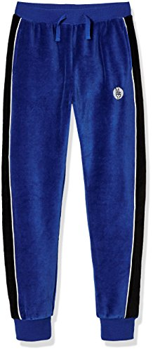 Kid Nation Kid's Cozy Velour Pull on Track Pant for Boys and Girls XS Blue/White