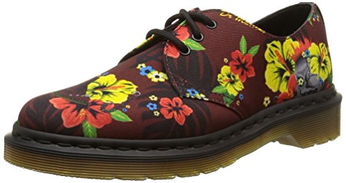 Lester Mujer Cordones Cherry con Hawaiian 1461 para Red Martens Core Dr Zapatos t7gqgx