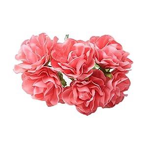 30PCS Coral Artificial Flower Bunch Wedding Flower Bouquet DIY Craft Floral Bridal Shower Party Home Decoration 18