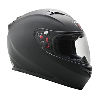 Zoan Blade SV Matte Black Electric Lens Snowmobile Riding Helmet w/ Sun Visor X-