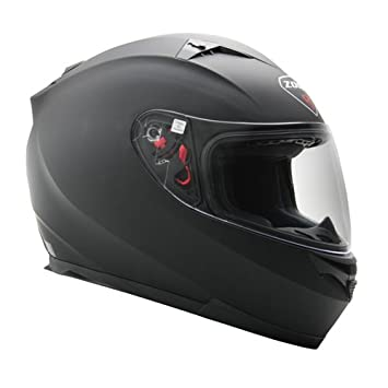 Zoan Blade Sv mate negro eléctrico lente nieve equitación casco w/visera XS