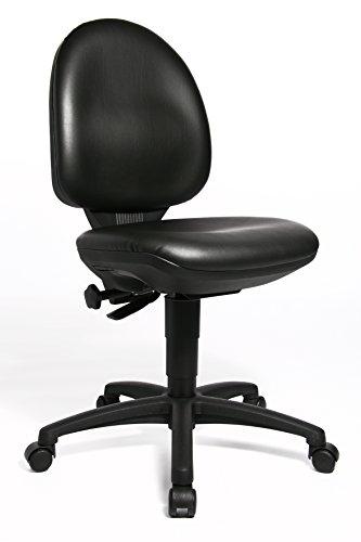 Topstar 72250D10 TEC 50, Bürodrehstuhl, Kunstleder, schwarz