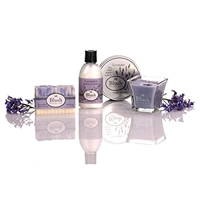 Luxury Bath Spa Gift Set for Women - Natural Ingredients, Scented with Pure Essential Oils - Handmade Artisan Soap, Sea Salt Body Scrub, Body Lotion, & Scented Candle - Restores & Nourishes the Skin