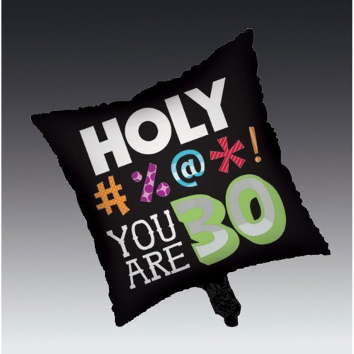(Creative Converting Holy Bleep 30th Birthday 2-Sided Square Mylar Balloon by Creative Converting)