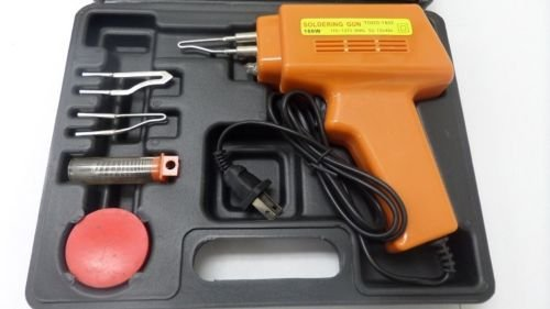 New Soldering Gun Kit w/Case Iron Solder Professional Style Sodering 5pc 100W