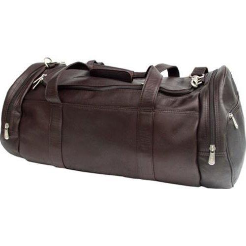 解体するモーテルレンジSingle PieceダークチョコレートXtra Large Duffleバッグ、レザー23-inch Carry On Duffel Bag, Zipコンパートメントon both ends with a small zipポケット、Carry On &メッシュ機能、色 – ブラウン