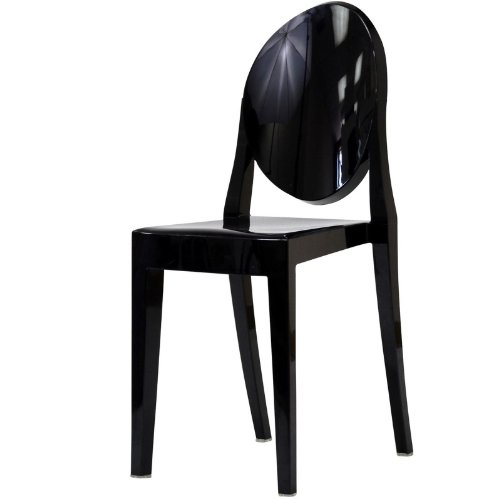 modway philippe stark style victoria ghost chair black. Black Bedroom Furniture Sets. Home Design Ideas