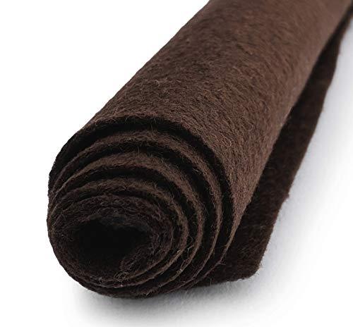 Teddy Bear Brown - Wool Felt Oversized Sheet - 20% Wool Blend - 10 12x18 inch Sheets