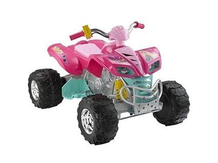 Amazoncom Power Wheels Barbie Kawasaki Kfx Toys Games