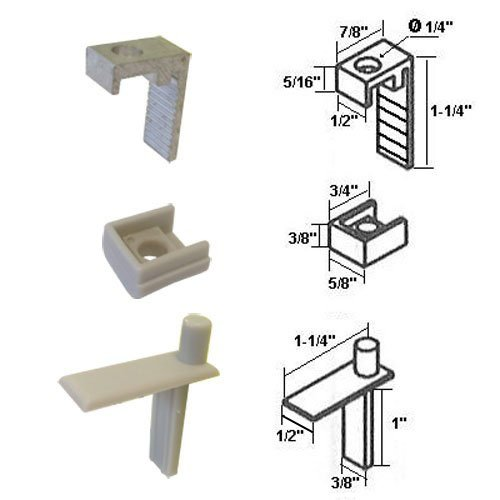 Hinge Pin with Hinge Clip and Bushing for Semi-Frameless Swing Shower - Shower Frameless Hinge Doors