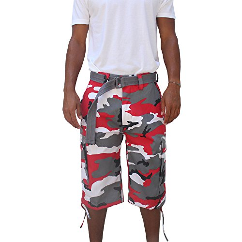Regal Wear Mens Multi Color Bright Camo Big & Tall size 32-44 short (34, red camo)