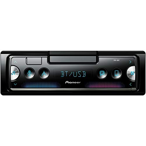 Pioneer SPH10BT Single-DIN in-Dash Mechless Smart Sync Receiver with Bluetooth (Old School Receiver Stereo)