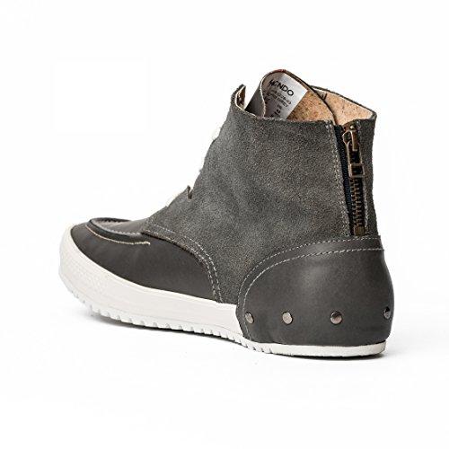 MCNDO Soho Chaussures Homme Urbaines de Cuir (9, Gris)