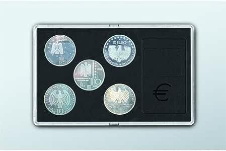 Safe 7905 Estuche para Monedas de Acrílico con Visión Clara de Ambas Caras de la Moneda. Para 5x 10 euros / 10 DM Monedas Conmemorativas o Monedas de hasta 32,5 mm: Amazon.es: Hogar