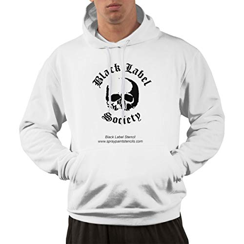 Glenn Isidore B-Lack L-ABEL S-ociety Men's Pullover Cotton Blend Hoodie Long Sleeve Hooded Sweatshirt M White (Electronic Label Ups)