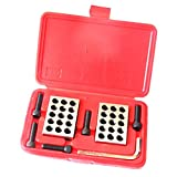 MagiDeal Pair 1-2-3 Block Set 0.0001'' Precision Matched Milling Machinist 23 Holes - with Screws Wrench Case