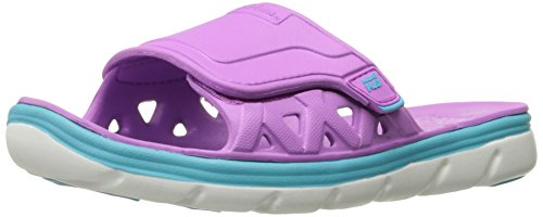 Stride Rite Made 2 Play Phibian Slide Sandal (Toddler/Little Kid/Big Kid), Purple, 5 M US Big Kid (Big Purple Slide)