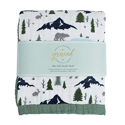 Softest Large 4-Layer Bamboo Muslin Quilt, 47