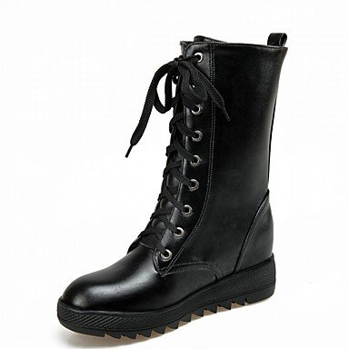 EU38 Platform Casual Boots Career Big Evening Fall UK5 amp;Amp; Leatherette Women'S Office Wedding Novelty Spring Patent Dress Comfort Party Winter RTRY US6 amp;Amp; Kids Leather q1aXx6w