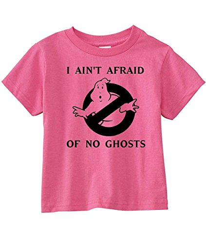 Ghostbusters Toddler I Ain't Afraid of No Ghosts T-Shirt, Raspberry, Gray, Black