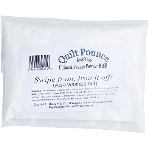 Hancy Powder Ultimate Quilt Pounce Chalk Refill-2oz White by Hancy