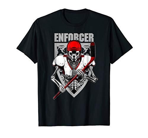 Enforcer Ice Hockey Player Skeleton T-shirt for Men and -