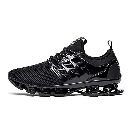 Glad You Came Spring Summer Men's Sneakers Men Running Shoes Trending Style Sports Shoes Breathable Trainers Walking Shoes for Male 001,Black,8 ()