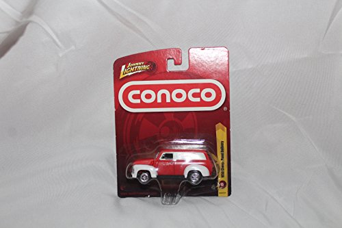 2011 Johnny Lightning 1950 CHEVY PANEL DELIVERY (Red Conoco), Release 15 diecast truck van