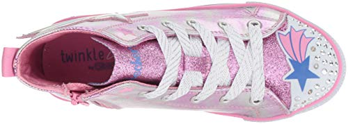 Starz Twinkle Skechers Rose stellar silver Fille Baskets Hautes Lite Pksl pink 7AqUqtH