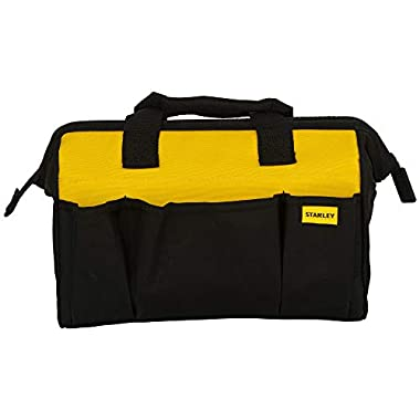 STANLEY STST512114 12'' Multipurpose Tools Storage Water Proof Open Mouth Bag (Yellow-Black) 9