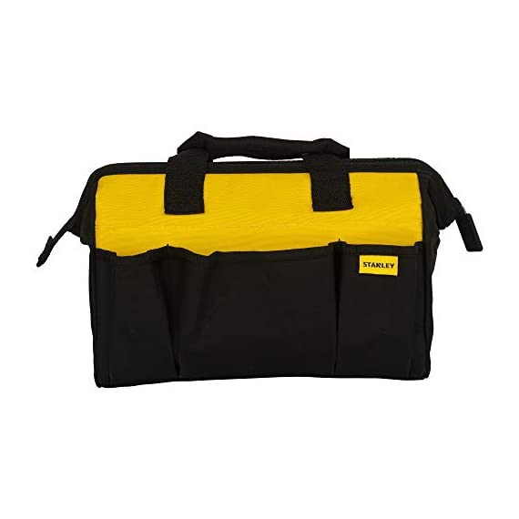 STANLEY STST512114 12'' Multipurpose Tools Storage Water Proof Open Mouth Bag (Yellow-Black) 2