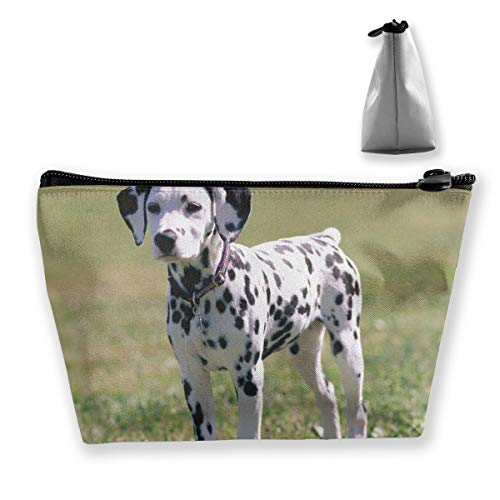 RobotDayUpUP Young Dalmatian Dog Womens Travel Cosmetic Bag Portable Toiletry Brush Storage Durable Pen Pencil Bags Accessories Sewing Kit Pouch Makeup Carry Case