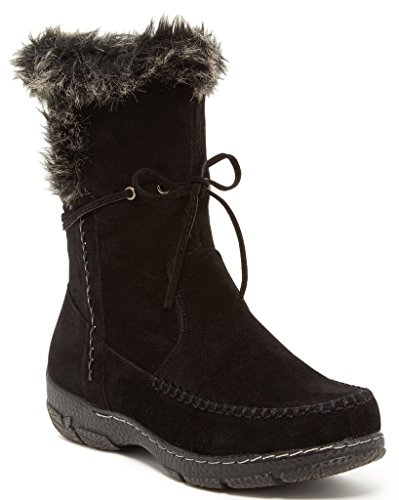 Bucco Ruzena Womens Fashion Faux Fur Winter Boots, Black, Size 7.5, US (Fall Winter Boots)