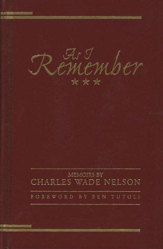 As I Remember: Memoirs