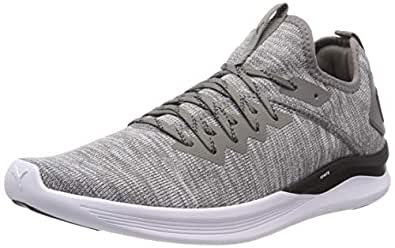 PUMA Men's Ignite Flash Evoknit Athletic & Sports Shoes, Steel Gray-puma Black, 13 US